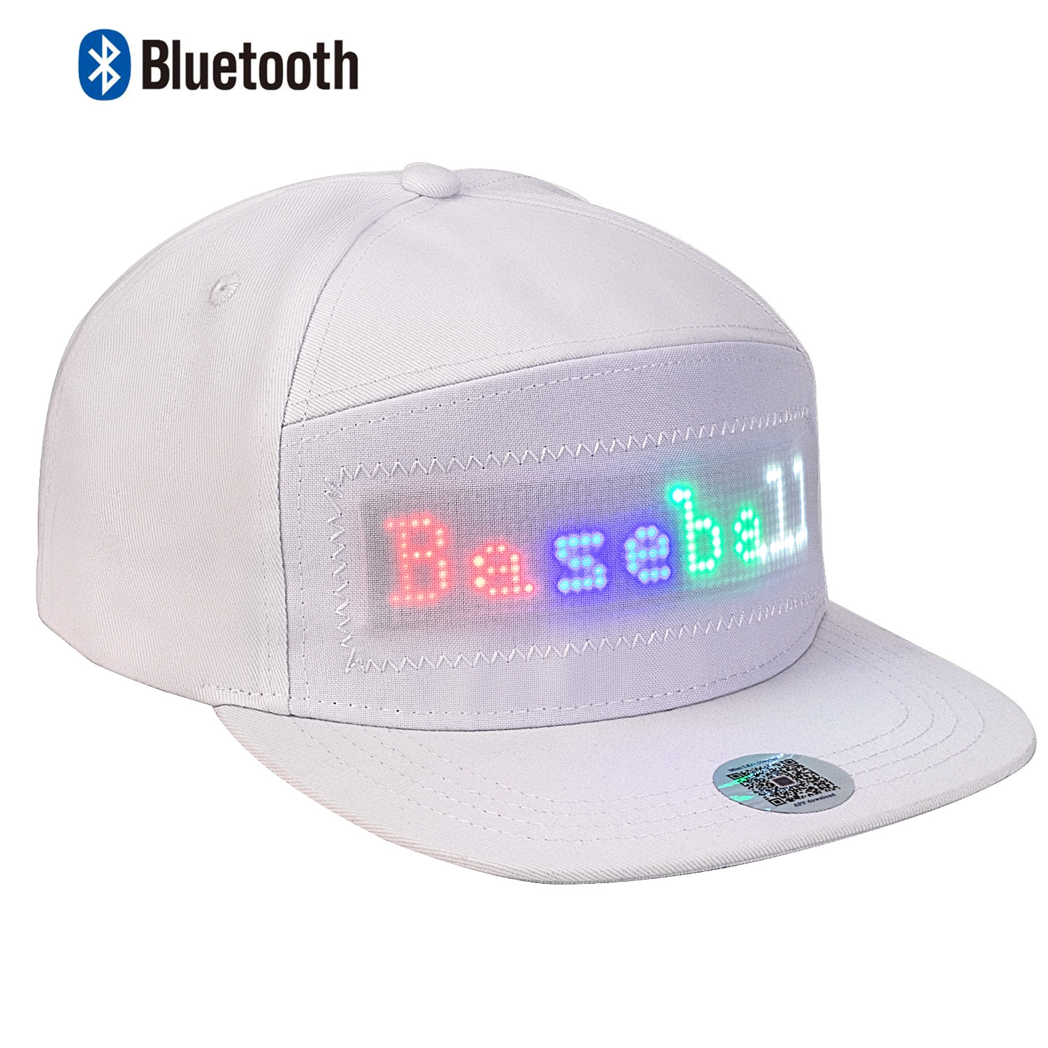 Novelty Animated Bluetooth Led Hat Display Board Hip Hop Street Dance Party Parade Sunscreen Hiking Night Running Fishing Cap
