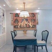 Unicorn series noblelady dress women big size 165*139cm decorative jacauard fabric medieval wall hanging tapestry PT 76