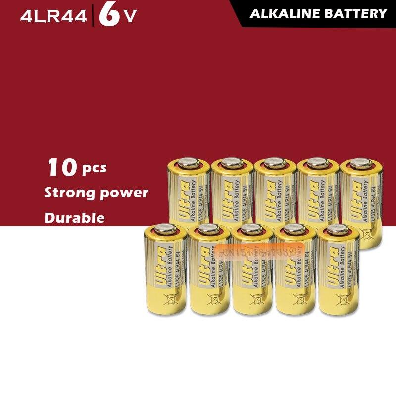10 pçs/lote 4lr44 baterias secas primárias, bateria alcalina 476a l1325 6v, células para carro, controle remoto, brinquedos, calculadora, drop ship