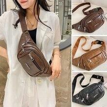 2021 Autumn Youth Leisure Travel Backpack PU Handbag Shoulder Bag Trend New Style Crossbody Bag Multifunctional Waist Bag