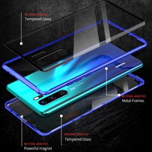 Image 3 - 360 magnetyczny podwójny szklany pokrowiec do Huawei P30 Pro hartowane etui na Huawei Huawei P 30 Pro 30 Pro P30Pro Coque Capa