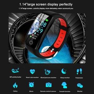 Image 4 - GPS фитнес браслет с измерением давления фитнес трекер здоровье кардио браслет пульсометр Шагомер умный Браслет