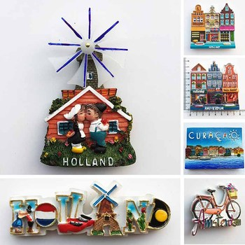 Netherlands Curacao Fridge Magnets Tourist Souvenirs Holland Windmill Amsterdam Magnetic Refrigerator Stickers Home Decor Gifts 1pcs cute pvc fridge magnets diy magnetic stickers souvenirs refrigerator magnet home decor kids toys xmas gift