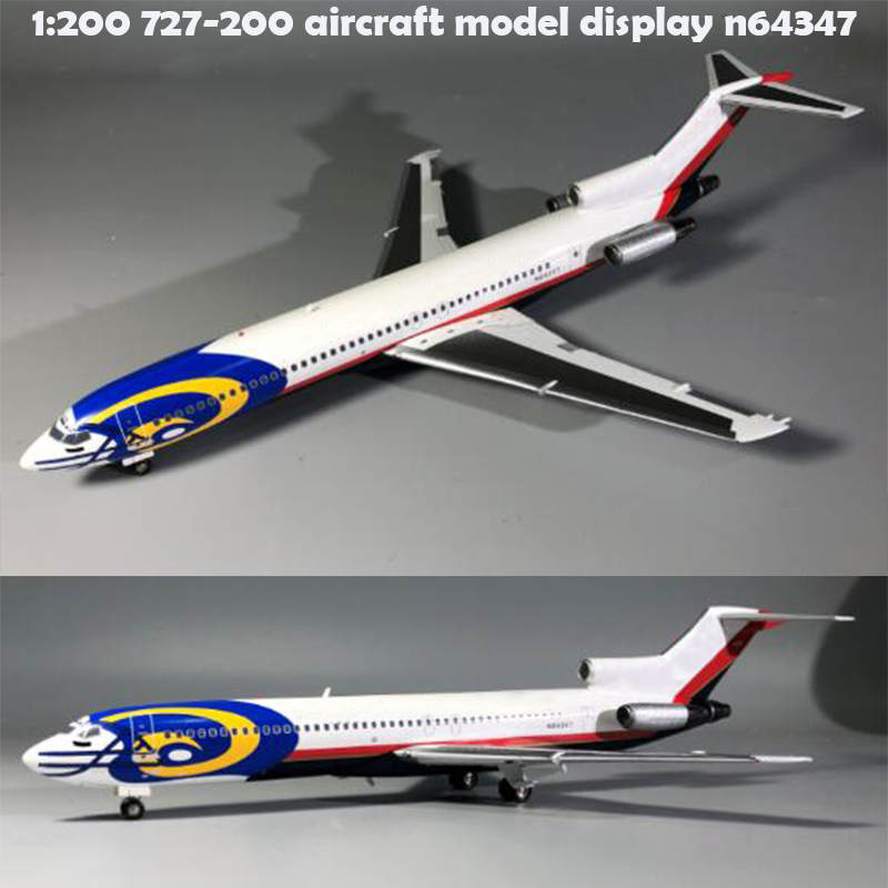 Rare  1:200  727-200 Aircraft Model Display N64347  Alloy Collection Model