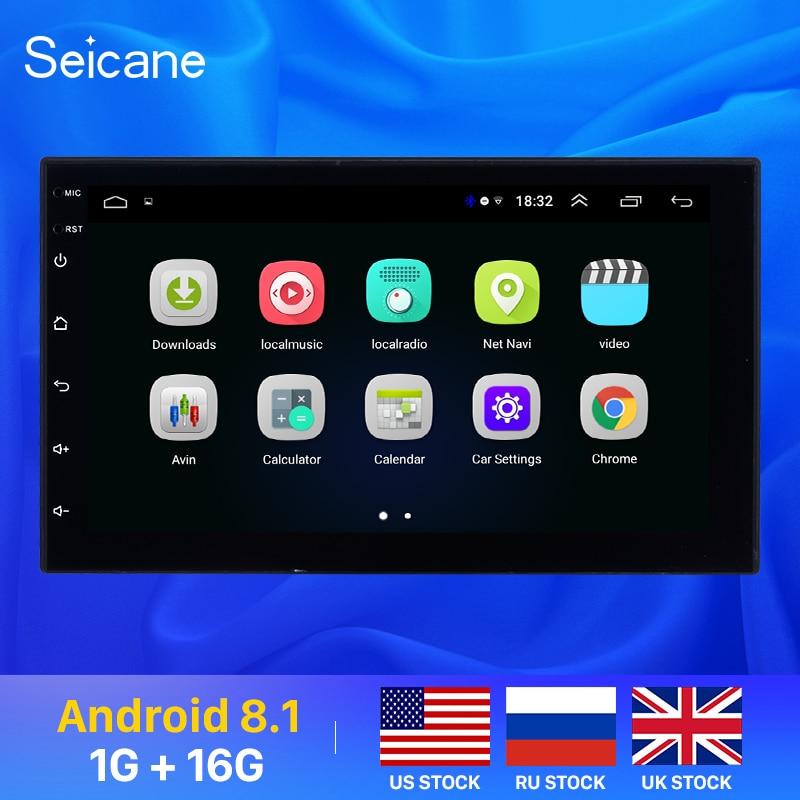 Seicane 2Din Android 8.1 7 pouces universel autoradio pour NISSAN TOYOTA KIA VW Hyundai Suzuki Honda RAV4 Sunny YARIS COROLLA VIOS