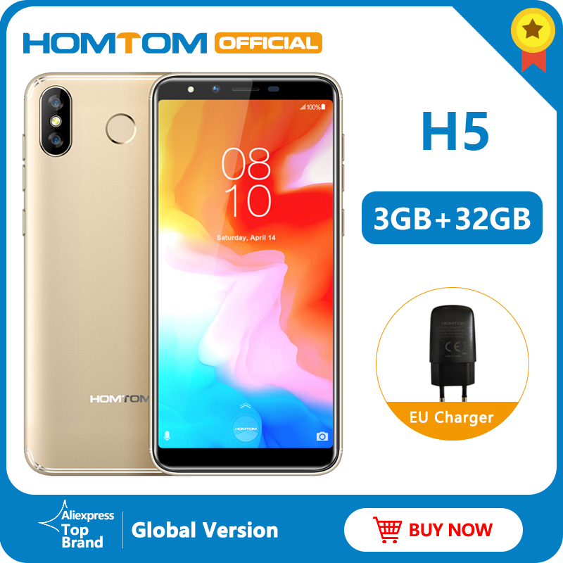 Original Version HOMTOM H5 360 OS Android8.1Mobile Phone 3+32GB 3300mAh 5.7