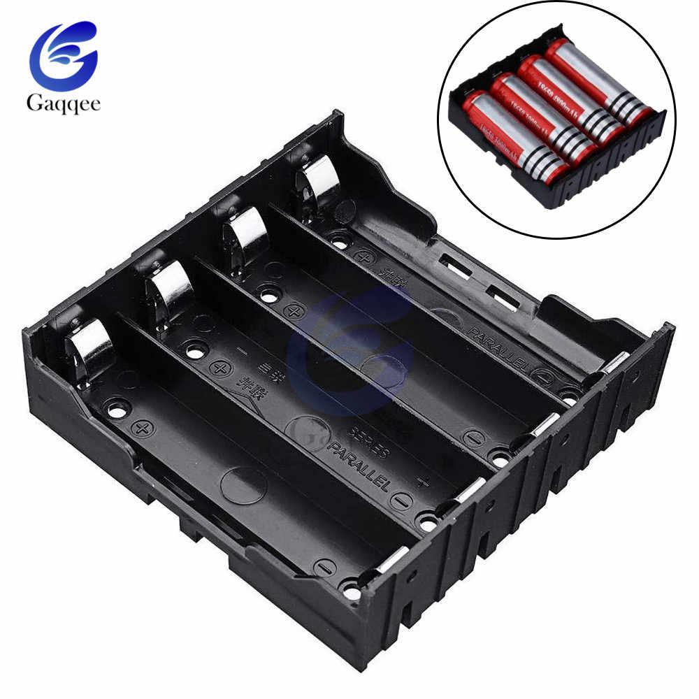4 Slot di 18650 Batterie Al Litio Pack Caso con Spille 4X3.7 V 18650 Supporto Della Batteria