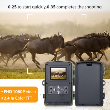 HC801 Hunting Trail Camera 20MP 1080P Night Version Invisible Infrared LED Wild Cameras 0.3s Trigger Surveillance Photo Traps 5