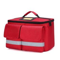 Kit de primeros auxilios para exteriores, bolsa de mensajero cruzada impermeable de nailon rojo para deportes al aire libre, bolsa médica de emergencia para viaje familiar DJJB060