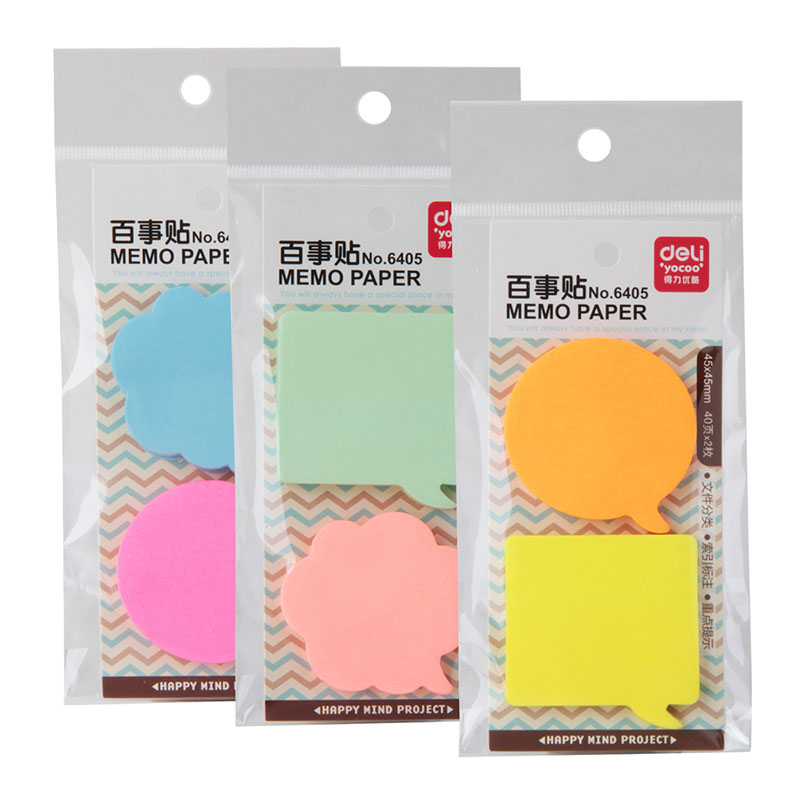 Deli 80 Sheets Sticky Notes Memo Pad Office School Supplies Stationery