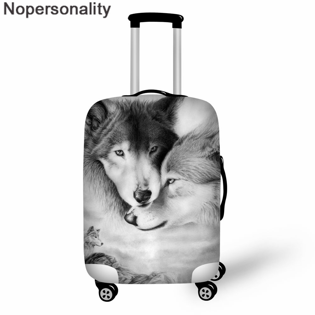 Nopersonality Luggage Cover 3D Wolf Print Suitcase Protective Covers Suit For 18-32 Inch Women Men's Travel Accessories Custom