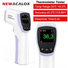 NEWACALOX IR الأشعة تحت الحمراء الرقمية ميزان الحرارة عدم الاتصال ثرمومتر يوضع على الجبين اختبار درجة الحرارة أداة القياس