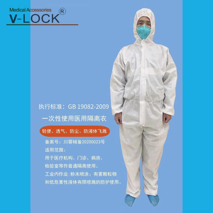 Disposable Anti-virus  Medical Protective Coverall 10pcs Packing