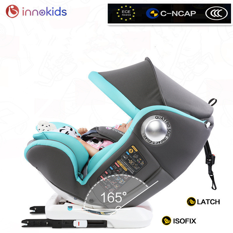 ECE R44/04 Standard Baby Car Seat 360 Degrees Rotary Child Car Safety Seat Chair ISOFIX Connector 0-12Y/0-36KG