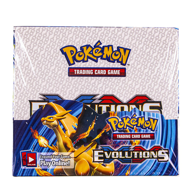 324pcs/box Pokemon cards Sun & Moon XY Evolutions Booster Box Collectible Trading Card Game Kids Toys