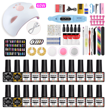 Gel Nail Polish Set Acrylic Nail Kit Gel Varnish Set Semi Permanent Varnish Home Manicure Set Nail Set With UV Led Lamp Nails