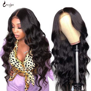 UWIGS 250 Density Body Wave Wig 13x4 Lace Front Human Hair Wigs Pre Plukced Body Wave Lace Front Wig Brazilian Remy Hair Wigs