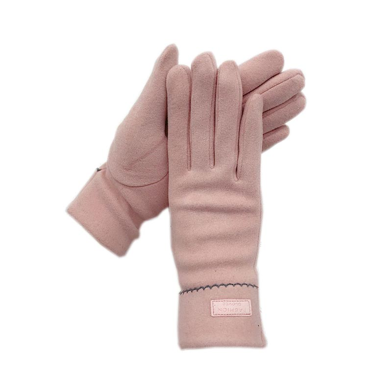 Gloves winter ladies 2022 new style de velvet thickened wrist fashion black pink blue wine red gloves ladies leather winter warm