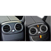 car air outlet For Mercedes C Class GLC W205 C180 Accessories C200 Rear Air Conditioning Outlet Panel Frame Cover Trim Car Stickers (3)