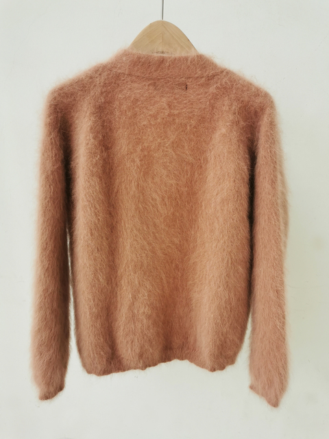 100% Real Mink Cashmere Sweaters Women New Basic Button Customize Big Size Factory Natural Mink Cashmere Cardigans tsr879 4