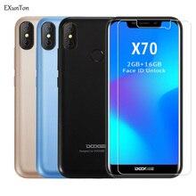 Exunton 2 個doogee X80 X70 2.5Dスーパークリア強化ガラスdoogee X70 X80 アンチスクラッチスクリーンプロテクターフィルム 9hガラス