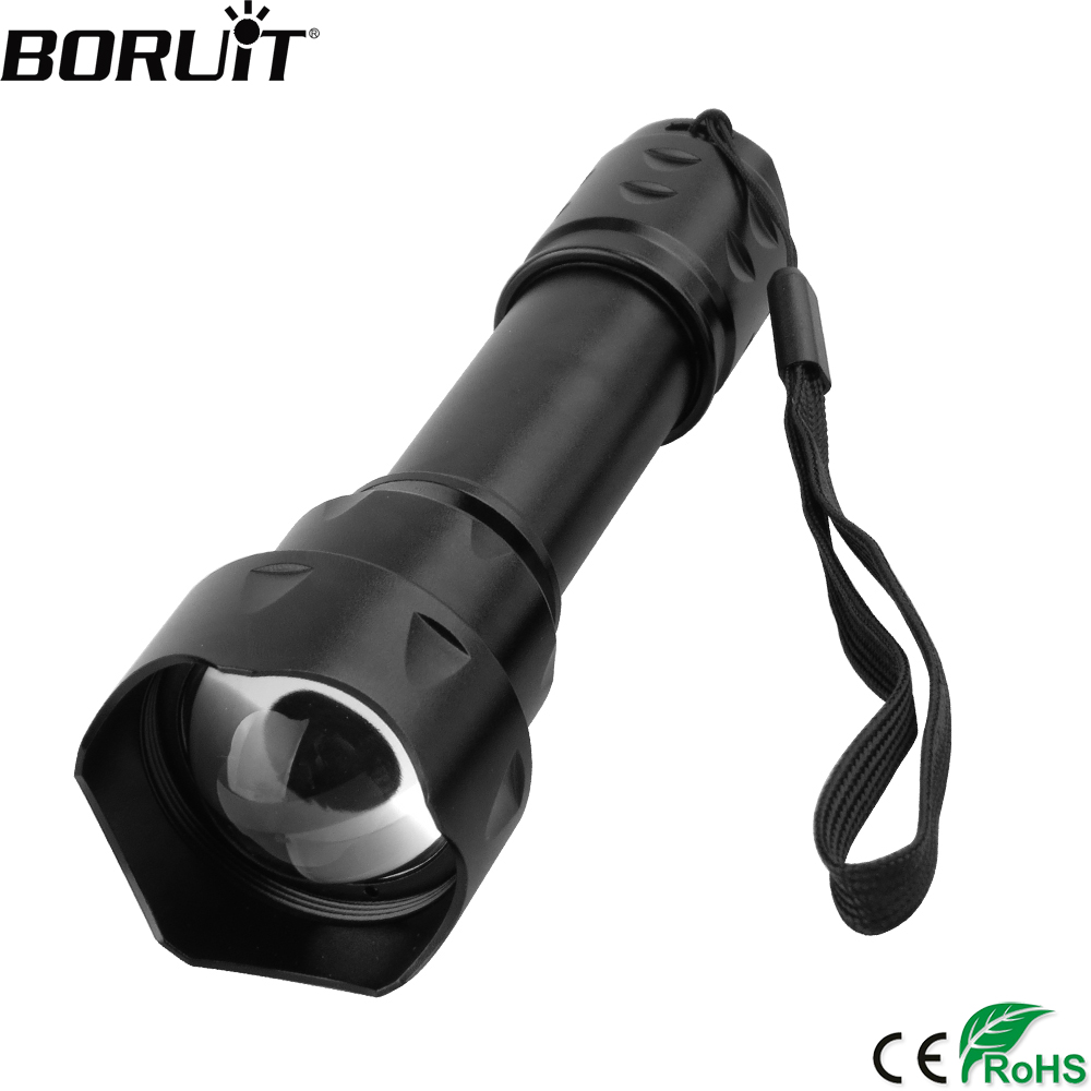 BORUiT T20 Infrared IR 850nm Night Vision Zoom Led Flashlight 18650 Battery Torch IPX6 Waterprrof Lantern for Hunting