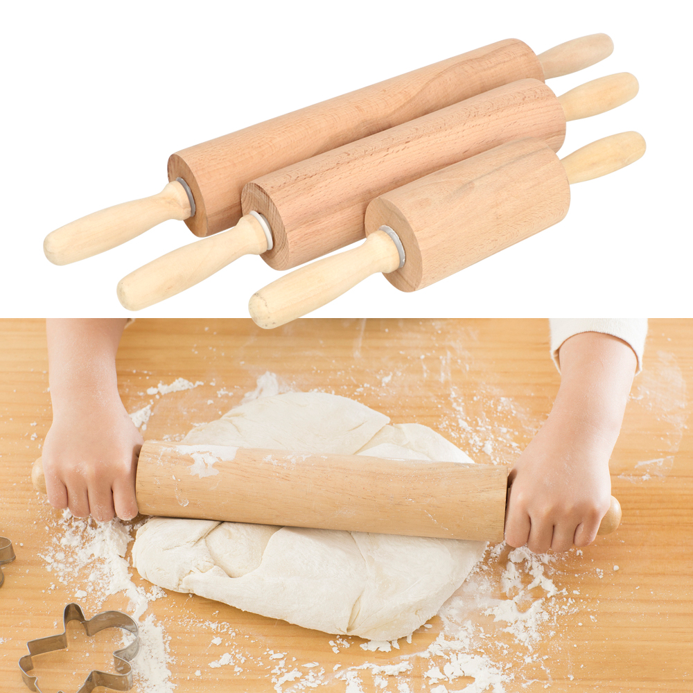 47cm 41cm 31cm Wooden Rolling Pin With Ball Bearing Handle Dumpling Pizza Dough Pastry Roller Cookies Biscuit Baking Tool Super Discount Cbf6 Cicig