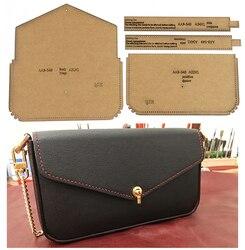 Kraft paper template shoulder bag messenger bag card bag clutch wallet diy pattern drawing pattern pattern leather craft tool