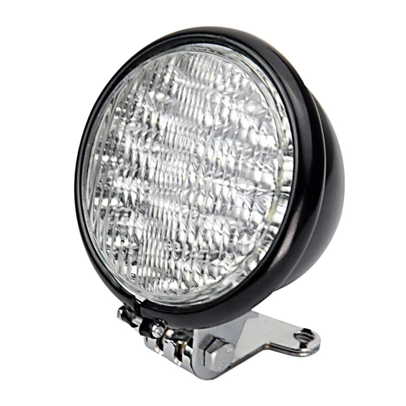 Universal Black 5 Inch Motorcycle 30 LED Front Headlight Head Light Lamp Bracket Set For Harley Ho Nda Cruiser Cafe Racer Bobber