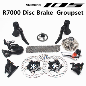 Image 1 - SHIMANO R7000 Groupset 105 R7000 Hydraulic Disc Brake Derailleurs  ROAD Bicycle R7000 shifter  CS 25T 28T 30T 32T 34T