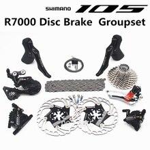 SHIMANO R7000 Groupset 105 R7000 hydrauliczny hamulec tarczowy przerzutki rower szosowy R7000 shifter CS 25T 28T 30T 32T 34T