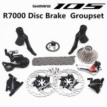 시마노 r7000 그룹 세트 105 r7000 유압 디스크 브레이크 변속기 도로 자전거 r7000 시프터 cs 25 t 28 t 30 t 32 t 34 t