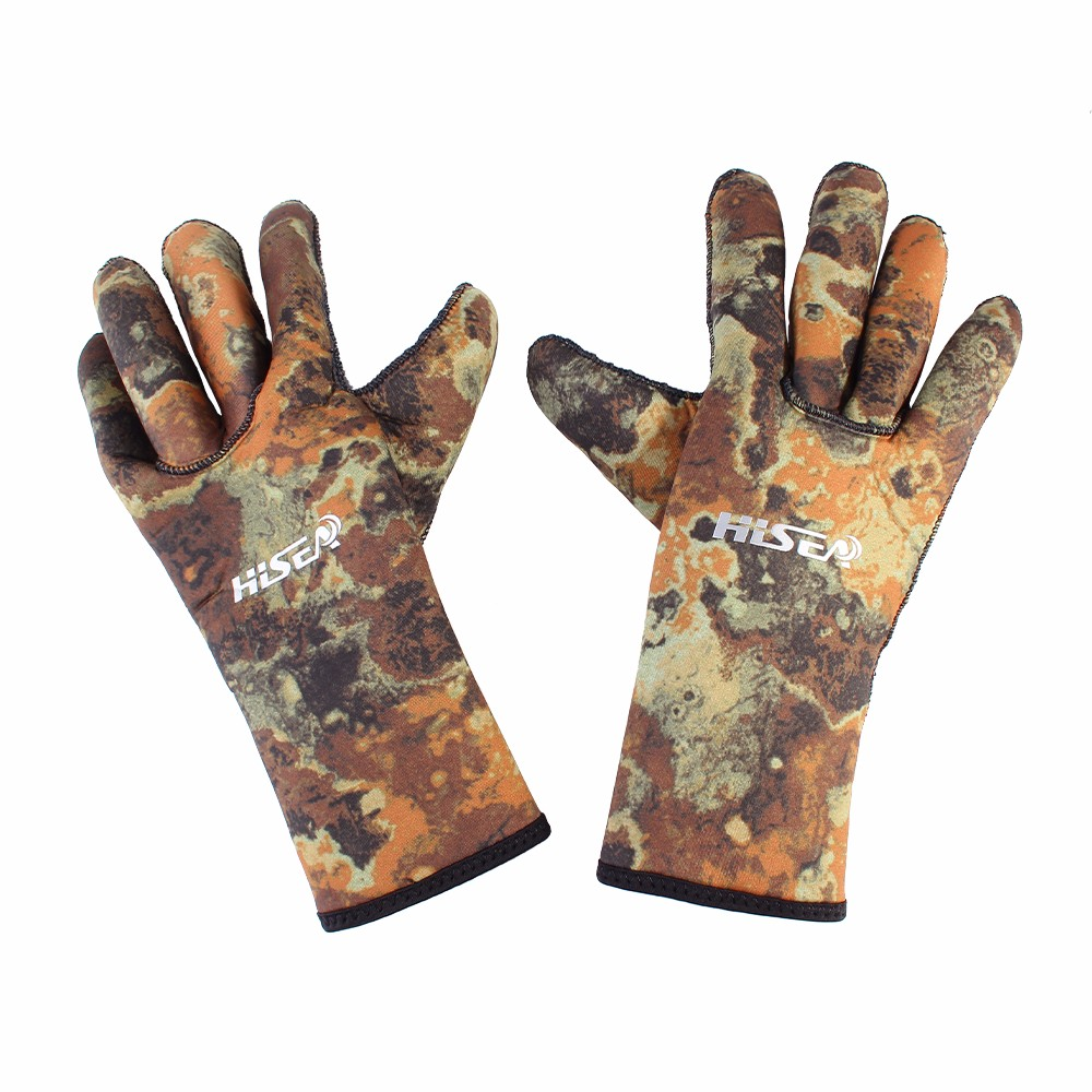 3mm Thick Camouflage Elastic Neoprene Diving Gloves Outdoor Beach Cycling Camping  Hunting Safety Slip Gloves