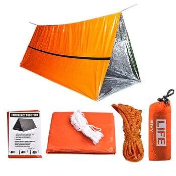 Emergency Tent Survival Kit Sleeping Bag, Waterproof Thermal Emergency Blanket, Bivy Sack ,Emergency Shelter Camping Accessories 1