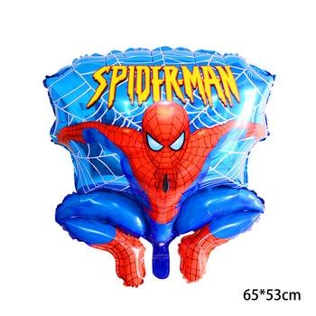 55 x 63CM 3D Spiderman Iron Man Hero Aluminum Foil Balloons Birthday Party Decoration Baby Shower Supplies Globos 16