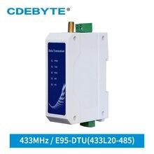 E95 DTU(433L20 485) 20dBm 433MHz RS485 kablosuz modülü Din ray LoRa Modem kablosuz veri iletim istasyonu uzun mesafe