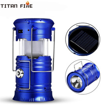 T20 Portable LED Light Camping Light 6 LEDs Solar Rechargeable Camping Lantern Tent Lights for Outdoor Flashlight LED Torch недорого