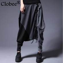 Fashion 2019 Striped winter Autumn new harem pants female personality loose women Wide Leg pants collapse Hip Hop capris Y80(China)