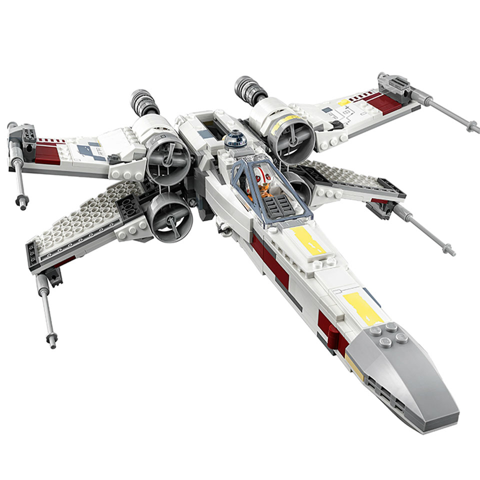 05145 819pcs Star Wars X Wing Fighter Building Blocks 4 Figures Compatible Legoinglys 75218 Bricks Toy