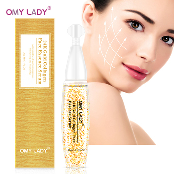 OMY LADY 24K Gold Facial Serum Collagen Essence Anti-Aging Face Care Moisturizing Nourishing Serum Lifting Firming Anti-Wrinkles gold caviar collagen serum