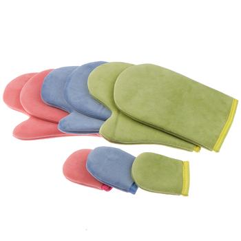 Rękawice samoopalające Mitt Kit rękawice aplikatorowe rękawice aplikatorowe rękawice do ciała rękawice do smarowania twarzy czyszczenie ciała rękawice kremowe tanie i dobre opinie DATINGDAY as shown MITT Glove Flocking sticker sponge + cloth