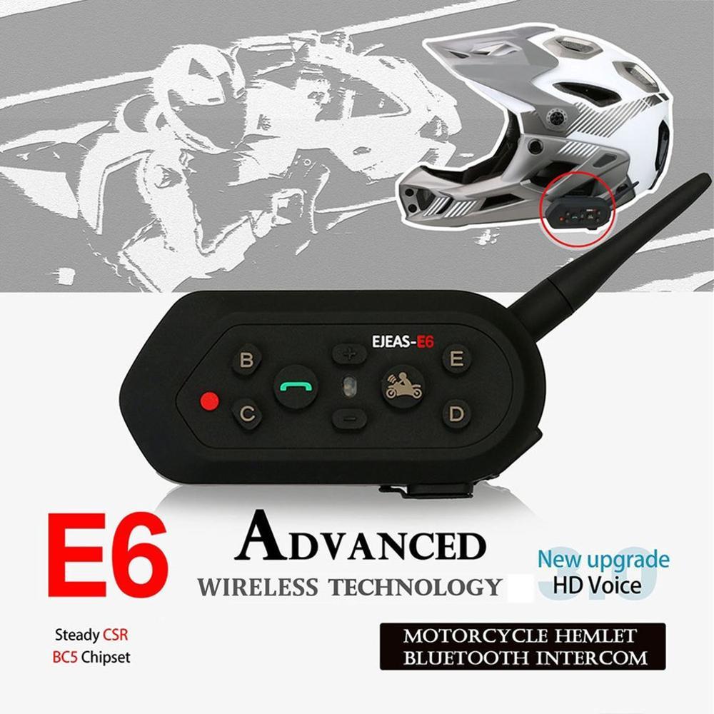 Motorcycle Walkie-talkie Headset Outdoor Full-duplex Real-time Call Wireless Helmet Intercom Headset E6