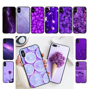 TOPLBPCS infinity on Purple Phone Case For iPhone 11 8 7 6 6S Plus 7 plus 8 plus X XS MAX 5 5S XR 12 11 Pro max se 2020 Case image