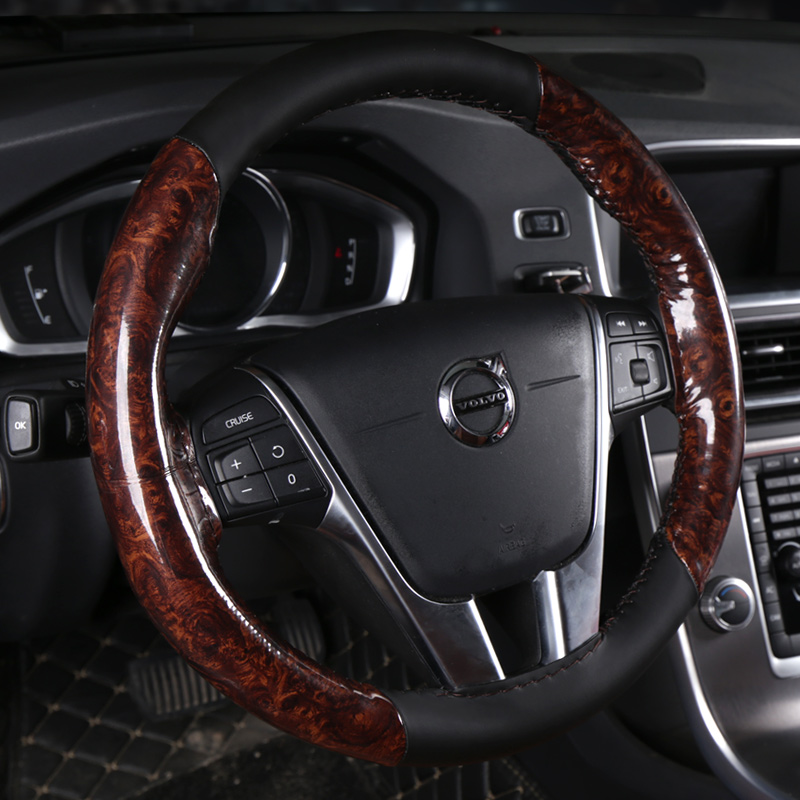Car ice machine weaving breathable steering wheel sets Sew Car For Volkswagen VW Touareg 2011 2012 2013 2014 2015 2016 2017 image