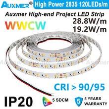 Высокая мощность 2835 wwcw 120 светодиодный s/m лента 192 Вт/м