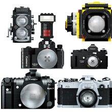 Nova chegada criativa câmera digital blocos de construção fy2a eus modelo moc blocos diy montagem brinquedos educativos para crianças presente