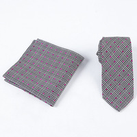 Cross Border Supply of Goods Men's Tie Handkerchief Suit Style Pattern Dotted Yarn Dyed Silk Tie Pocket Square Two Piece Set