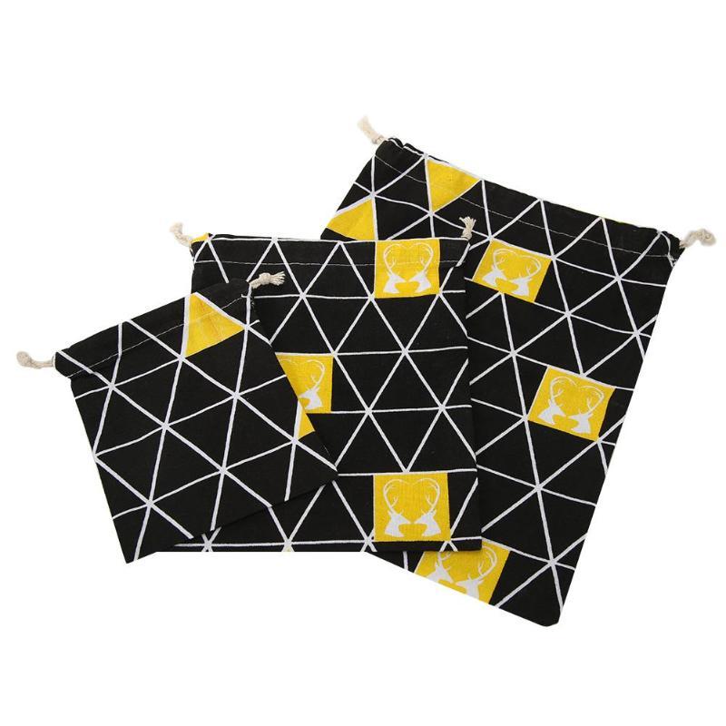 Durable Drawstring Storage Bag Fashion Cartoon Bundle Pocket Pouch Gadget Organize Travel Supply Storage Accessories