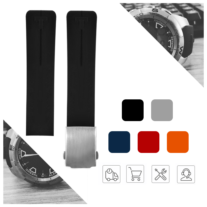 Silicone WatchBand 20mm 21mm Sports For Touch T013 T047 Rubber Red Strap T-Sport Watchband Waterproof T013.420 T047.420 Man