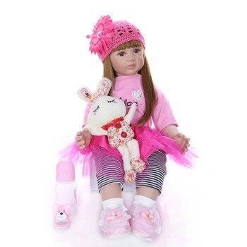 KEIUMI 60cm Silicone Reborn Baby Doll Toy Realistic Vinyl Princess Toddler Bebe reborn Child Birthday Gift Girl Babies Boneca